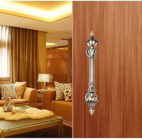 取手 ドアハンドルヨーロピアンスタイルのアンティークの木製ドアのガラスのドアハンドル 家庭装飾 (Color : Color-1, Size : 450cmm)