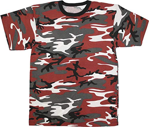 Red Camouflage T-shirt - Army Universe Red Camouflage Short Sleeve T-Shirt Pin - Size 3X-Large (53