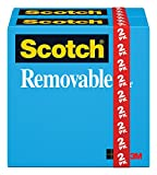 Office Products : Scotch Brand Removable Tape, Trusted Favorite, Invisible, Standard Width, 3/4 x 1296 Inches, 2-Pack (811)