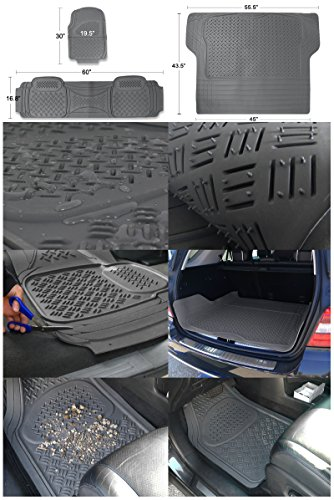 Spec-D MAT-3201GRY Gray All Weather Floor Mats 4pcs by Spec-D Tuning (Image #1)