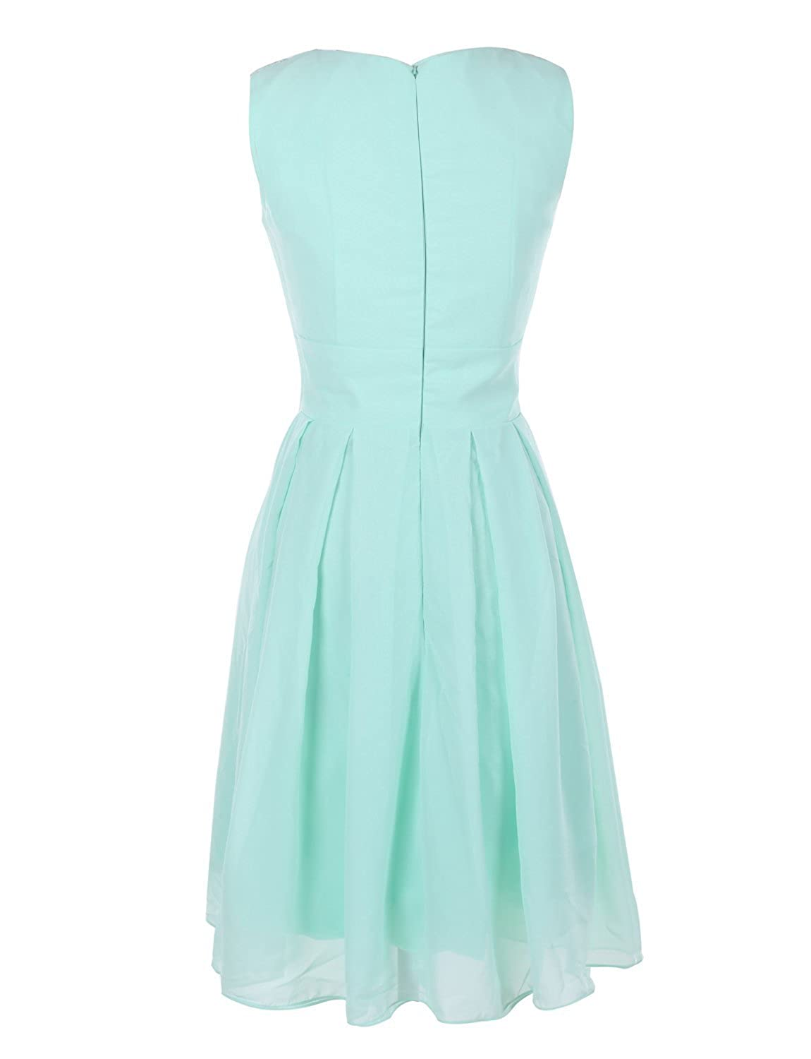 Ouman Short Prom Dress Bridesmaid Gowns with Appliques Neckline at ...