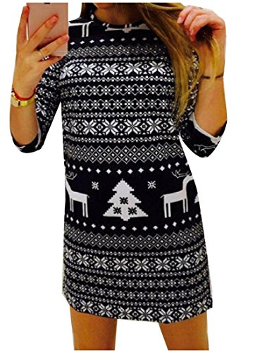 Women Wild Pencil Coolred Xmas Custom Dress Floral Black Print Fit Sheath dCYfa