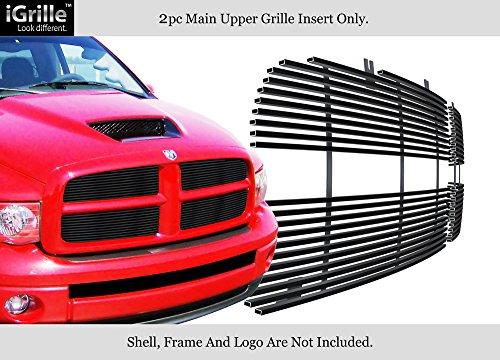 Ram Dodge Grille Billet 05 - APS for 2002-2005 Dodge Ram Black Stainless Steel Billet Grille Grill Insert #N19-J47358D