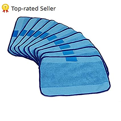 Amazon.com: HBK Microfiber 10-Pack Pro-Clean Mopping Cloths ...