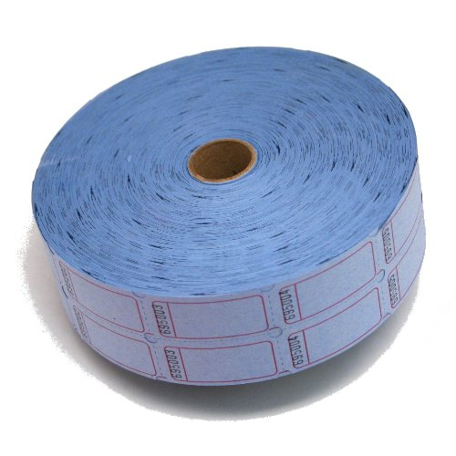 MUNCIE NOVELTY COMPANY - Blue Blank Double Roll Raffle Tickets, 2000 Sets