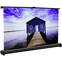 Projector Screen, Cozime Indoor Outdoor Portable Movie Screen 40 16:9 Home Cinema Projector Screen Pull Down, PVC Fabric