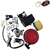 Cozy Pack of Carburetor Carb Recoil Starter Ignition Coil Air Filter Assembly Stop Switch Spark Plug fit for Honda Gx160 5.5hp Replaces #16100-ZH8-W61