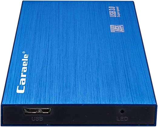 D DOLITY 外付け ハードディスク 2TB/1TB/500GB USB 3.0 HDD モバイルディスクドライブ ポータブル 高速転送 青 - 500GB