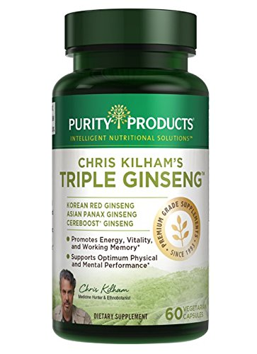Chris Kilham s Elite 3-in-1 Ginseng Super Formula with Cereboost from Purity Products Featuring Panax Ginseng, Korean Red Ginseng and Organic Schisandra Berry