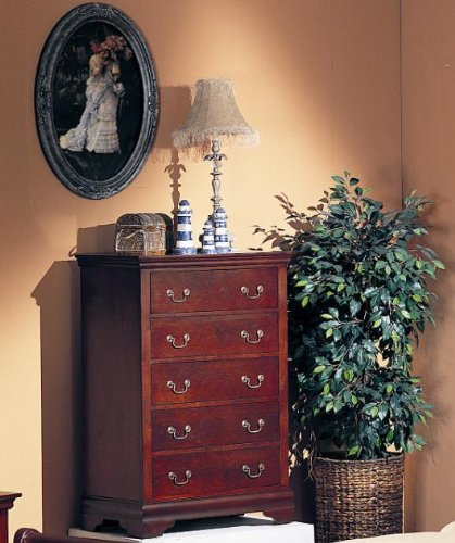 Louis Philippe Cherry Drawer Chest (Louis Louis Drawer Chest)