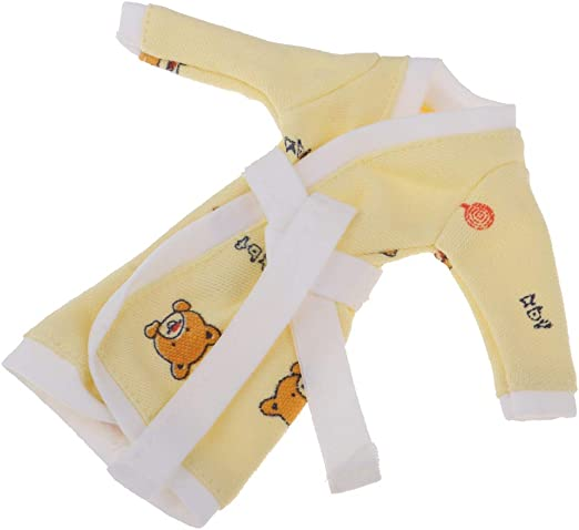 Yellow Nightclothes for 1//6 Doll Nightwear Doll Clothing Pajamas Girl Gifts