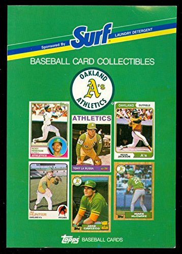 1988 Topps Baseball Book Oakland As Card Team Complete Set Surf Athletics