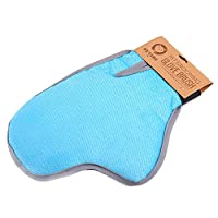 PETSWI 2-in-1 Pet Glove: Grooming Tool + Furniture Pet Hair Remover Mitt - For Cat & Dog - Long & Short Fur - Gentle Deshedding Brush - Rubber Tips for Massage - Soft Groomer Mitt