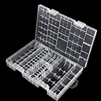 VORCOOL Transparent Battery Case Holder Storage Box for AA AAA C D 9V