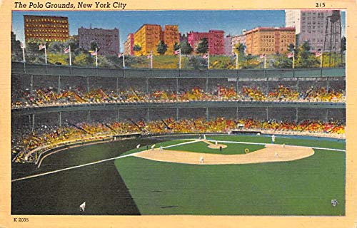 (Polo Grounds, New York City, Home of the NY Giants Baseball Team, Base Ball Stadium Postcard Unused)