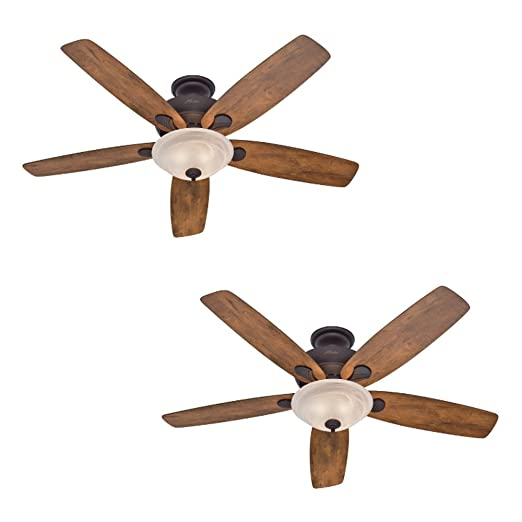 Hunter regalia 60 in new bronze indoor downrod or close mount hunter regalia 60 in new bronze indoor downrod or close mount ceiling fan with light kit amazon mozeypictures Image collections