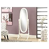 Crown Marks Oval Cheval Mirror, White Finish For Sale