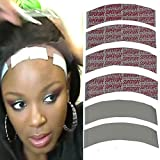 Promisen 1 Piece Lace Wig Double-Sided Adhesive Film Seamless Hair Extensions Film Wigs Dedicated Adhesive for Long-Term wear, Wig Swimming, Bathing 7.6CM (L) x 2.2CM (W) (Multicolor)
