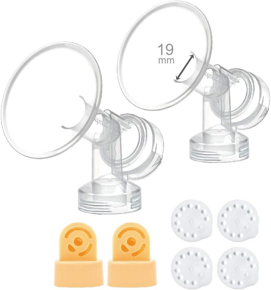 Coppa per il seno 15mm diam/ètre de mamelons 15mm Une unit/é de t/éterelle avec vanne et membrane pour les tire-lait Medela ; Fabriqu/é par Maymom