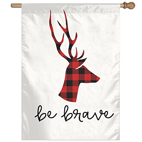 Plaid Moose Buffalo Personalized Summer Yard Garden Flags All-Weather Polyester Diameter 8-12mm (Halloween Beards Canada)