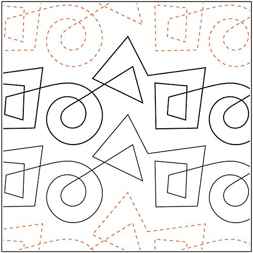Quilting Creations Kandinsky Petite, 4-1/2 Inch Rows,UTA-1007 Urban Elementz Tear Away, 4 Pack by Quilting Creations