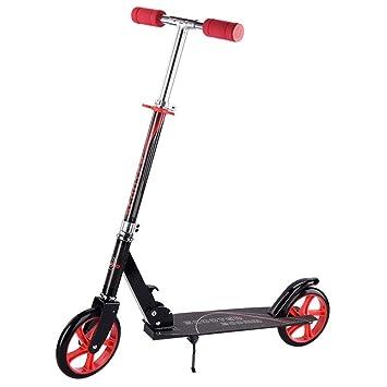Patinete de 2 Ruedas Scooter Plegable para niños Deluxe Aluminio 2 Ruedas Glider Altura Ajustable Adulto Scooter para niños, Unisex.