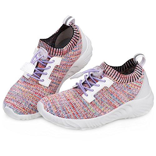 UOVO Boys Girls Sneakers Running Shoes Flyknit Athletic Breathable Cushioning Outdoor Walking Shoes for Kids – DiZiSports Store