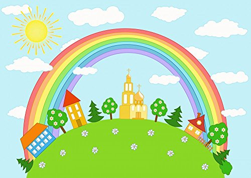 Wallmonkeys Baby Landscape Rainbow Peel and Stick Wall Decals WM176037 (18 in W x 13 in H)