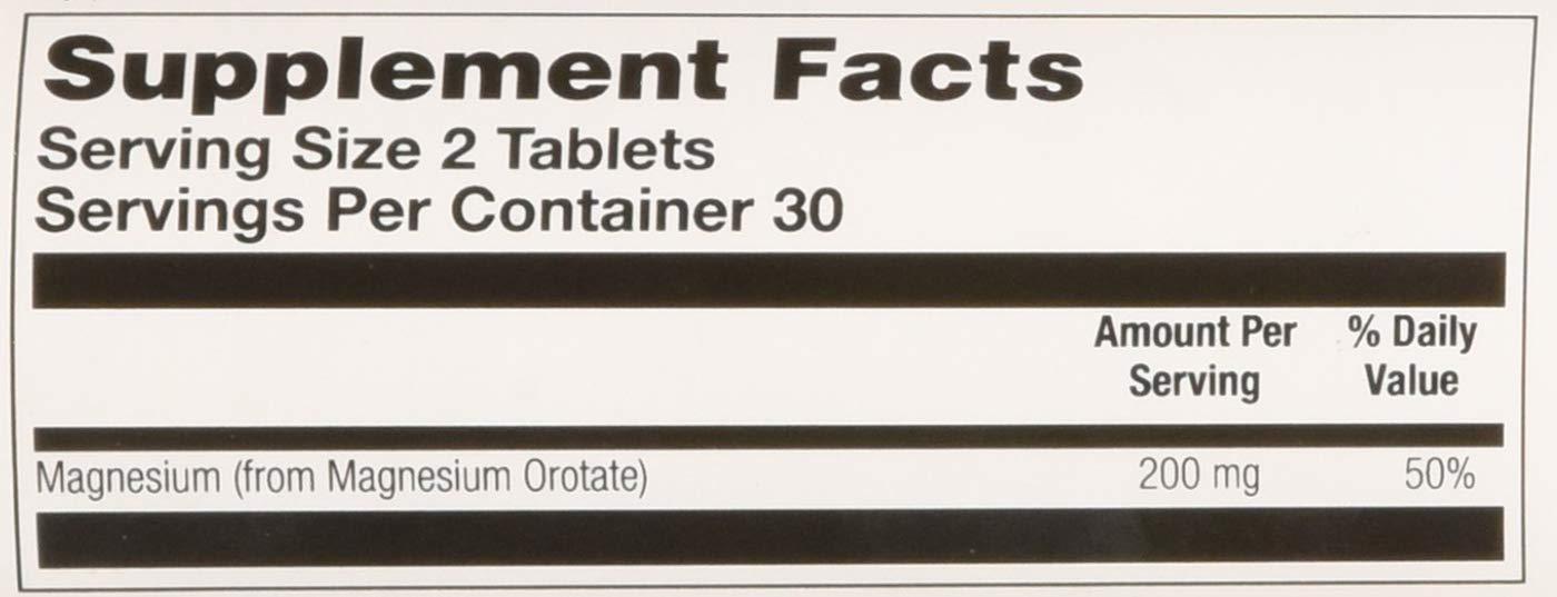KAL Magnesium Orotate, Tablet (Btl-Plastic) 200Mg 60Ct: Amazon.es: Salud y cuidado personal