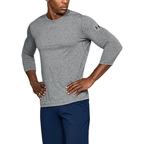 Sleeve Utility Shirt - Under Armour Men's Threadborne Utility T-Shirt, Black, Large