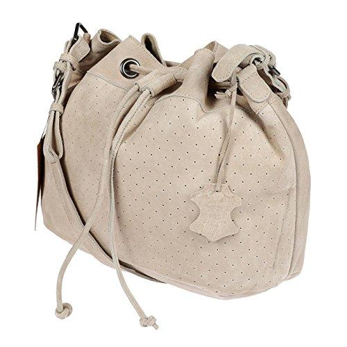 Christian Wippermann®, Borsa a spalla donna beige Beige 40 cm x 30 cm x 18 cm