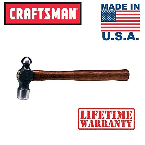 New Made in USA Craftsman 4 oz Ball Pein Hammer Hickory Handle Drop Forged Peen