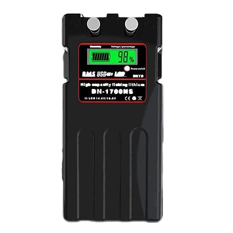 @NSSダイワシマノ電動リール用バッテリー超大容量14.8VDN-1700N互換バッテリー充電器セットパナソニックセルの画像