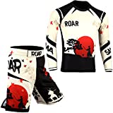 ROAR MMA Rash Guard & BJJ Grappling Shorts UFC Cross Training Gear No Gi Gym Wear
