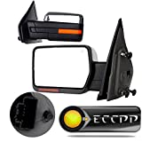 ECCPP Towing Mirrors For 2004-2014 Ford F150 Chrome Power Heated Puddle Signal Light Driver and Passenger Side Pair Mirrors