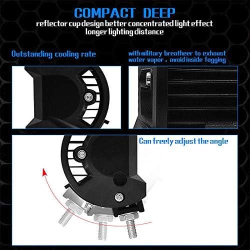 """1PC 200W 4/"""" LED Combo Work Light Bar Spotlight Off-road Driving Fog Lamp Truck"""