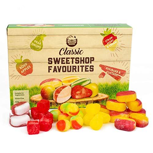 Classic Sweetshop Favourites 200g British Candy (Rhubarb & Custard/Strawberry & Cream/Pear Drops/Rosy Apple)