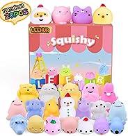 LEEHUR Birthday Party Favors Squishies Kids Mochi Squishy 20Pcs Kawaii Soft Mini Moji Moji Squeeze Stress Anxiety Relief Toy