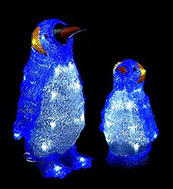 Premier LED Christmas Penguins Light Set of 2: Amazon.co.uk: Lighting