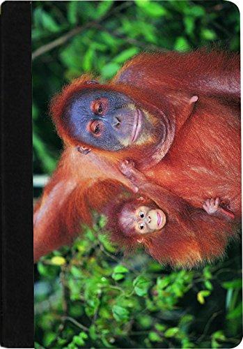 Rikki Knight Orangutan with Baby Faux Suede Notebook Bind...