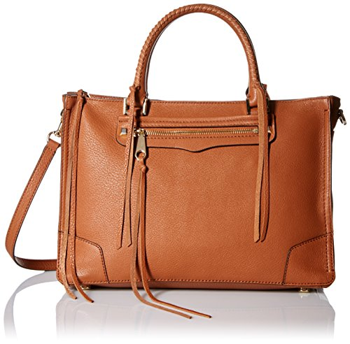 Rebecca Minkoff Regan Satchel Tote Shoulder Bag, Almond, One Size by Rebecca Minkoff