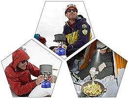 Wuudi Juego de Utensilios de Cocina para picnics al Aire Libre 1-2 Personas para Acampar Senderismo Mochilero Estufa de Olla Combinaci/ón de vajilla port/átil para Campo