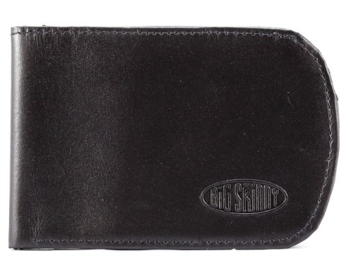 Big Skinny Men's RFID Blocking Leather Curve Bi-Fold Slim Wallet, Holds Up to 20 Cards, Black by Big Skinny