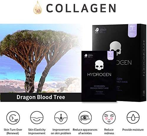 HYDROGEN Dragon Perfect Premium Mask_Collagen (10PC): Rich Moisture, Anti-Wrinkle, Brightening Effects