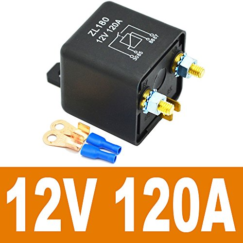 1 Set 2 Pin Footprint 2 Terminal Ehdis/® 12V 120A 4 Pin Car Relay Black Box Battery for Automobile Heavy Vehicle Truck Excavator Van Boat