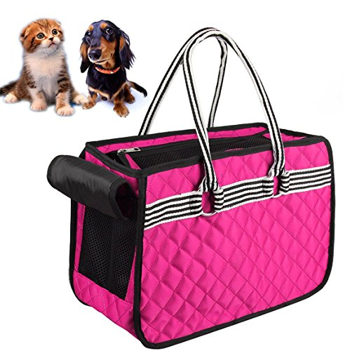 Cuteshower Airline Approved Soft Sided Pet Carrier Soft Cat Travel Purse,Soft Sided Puppy Carrier Rabbits under 10lbs - Personalized Carrier Pet