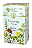 Celebration Herbals Organic Lavender Flowers Tea Caffeine Free -- 24 Herbal Tea Bags