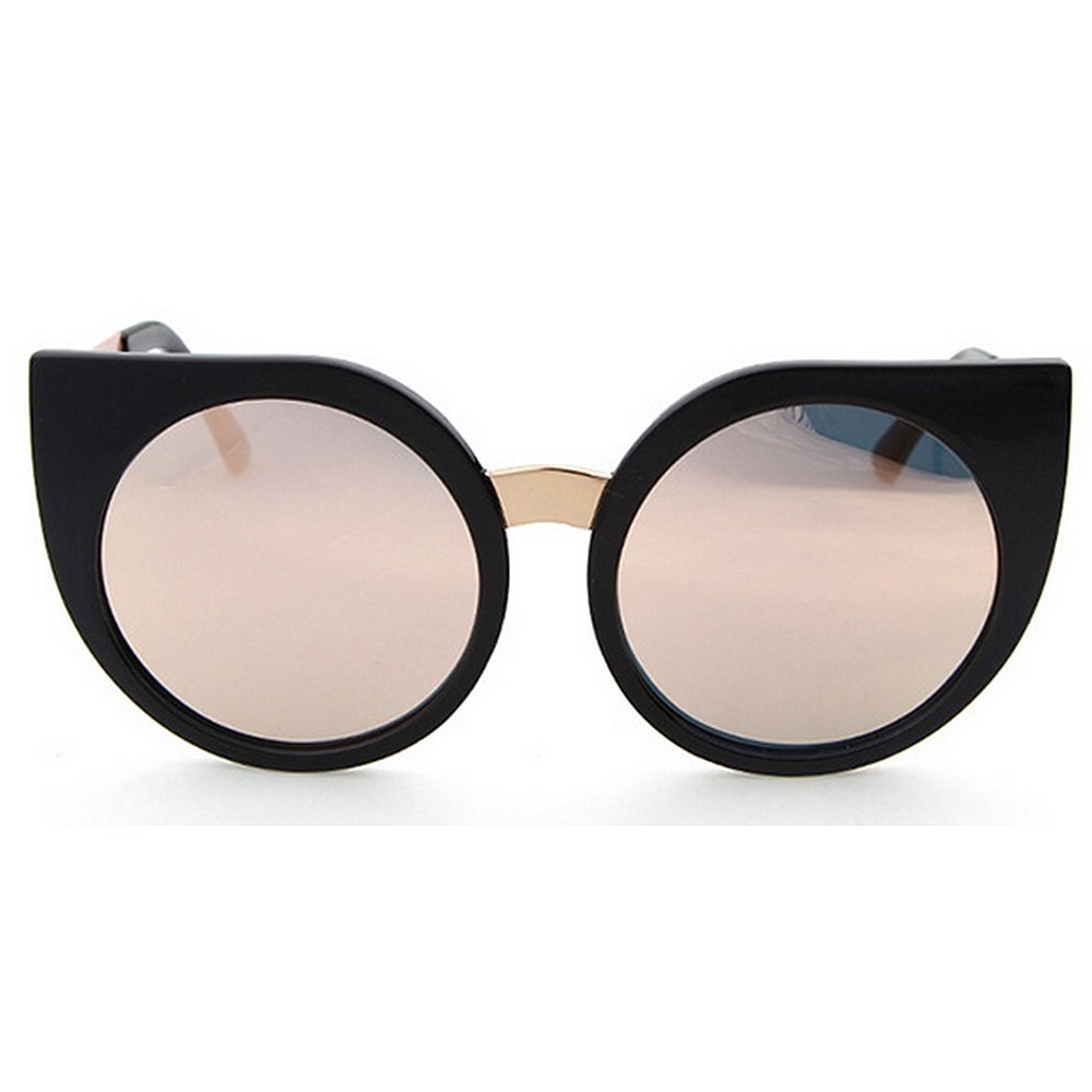 Pink Cat Eyes Style Personality Lady's Sunglasses Full Frame UV Predection Polarized Outdoor Sunglasses for Driving Travelling Summer Beach