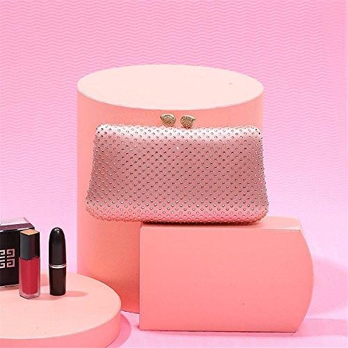 Cristal Bal incrusté Sac la soirée fête pour à Nuptiale rabbit de Pink Main d'embrayage Sac Sac Lovely Red Or Lady Luxe Color FtXwnSU