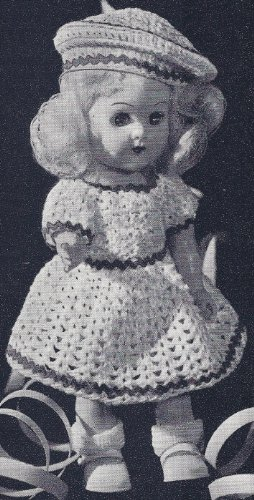 Amazon Vintage Crochet Pattern To Make 8 Inch Doll Clothes